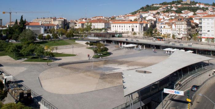 Largo da Devesa City Square in Castelo Branco, Portugal