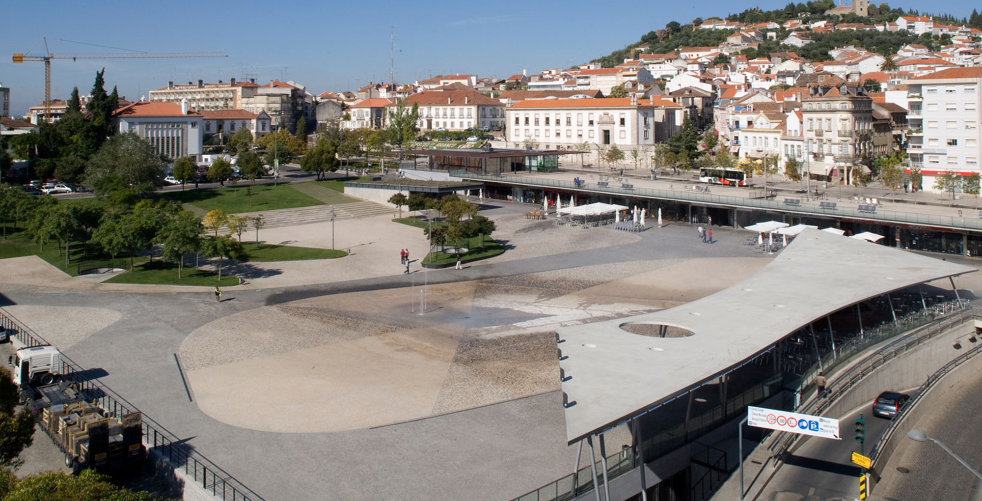 Largo da Devesa City Square in Castelo Branco, Portugal