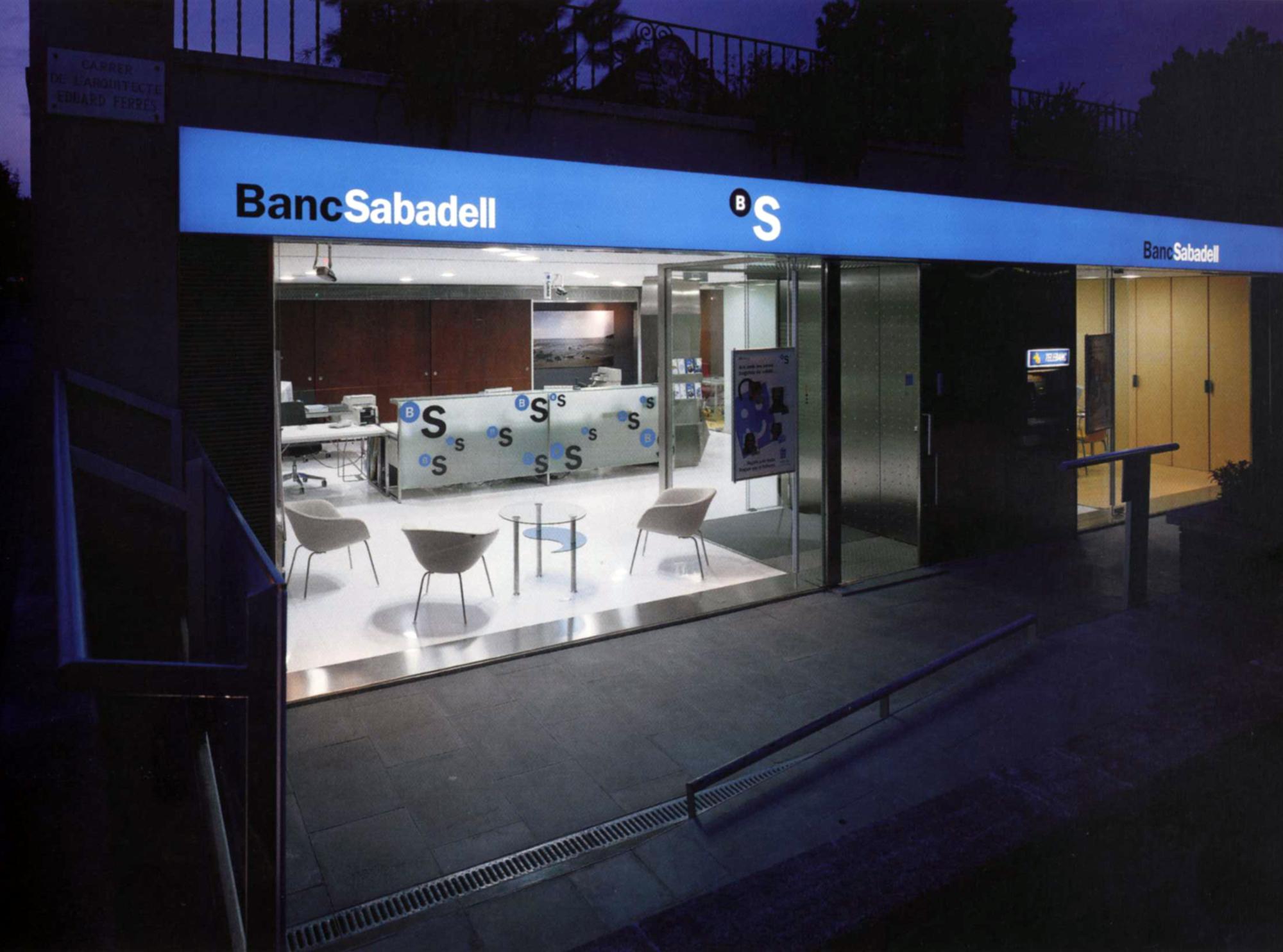 Bank Sabadell model office in Barcelona