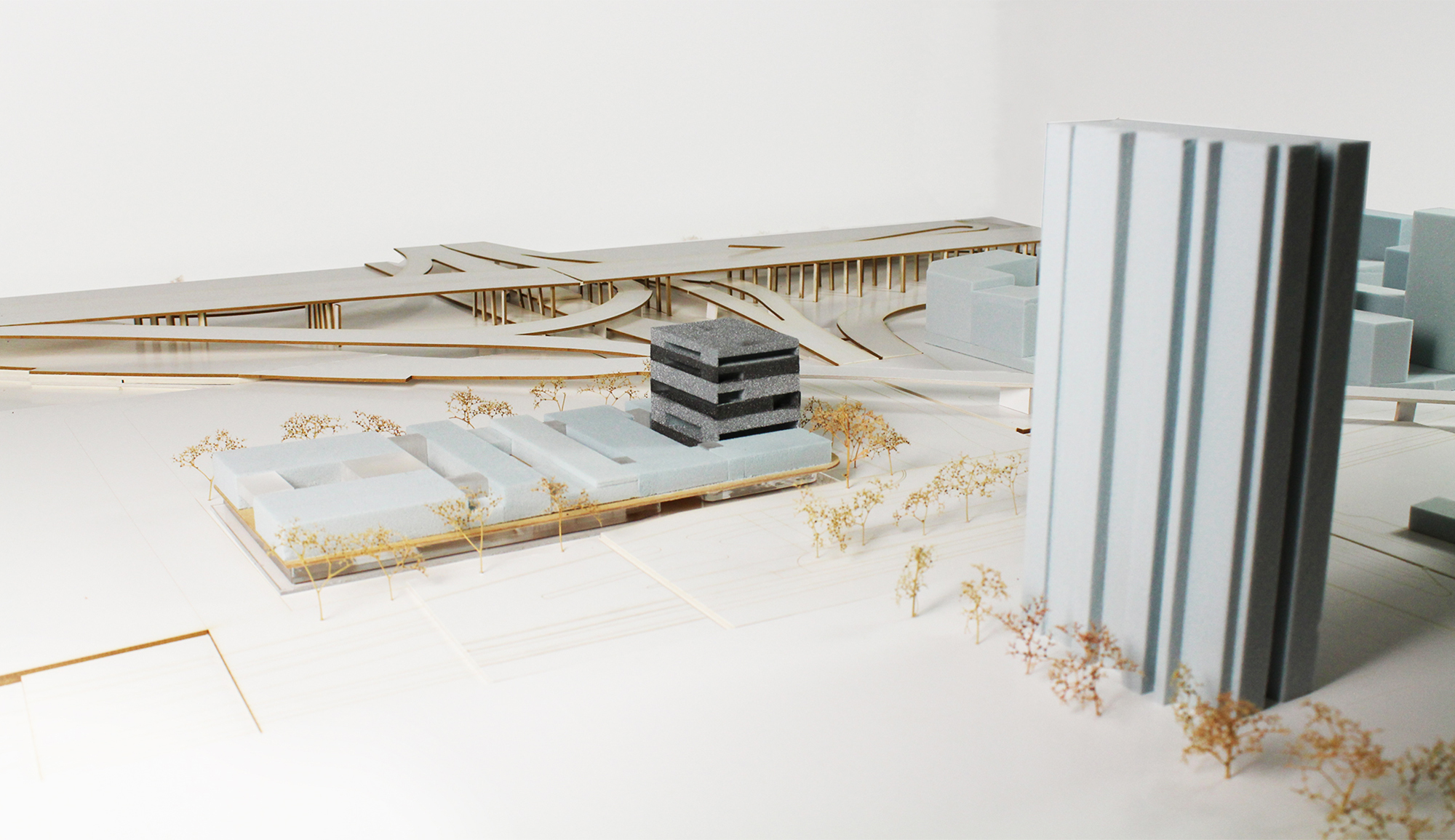 Model, topography - Condorcet Campus - Josep Lluís Mateo
