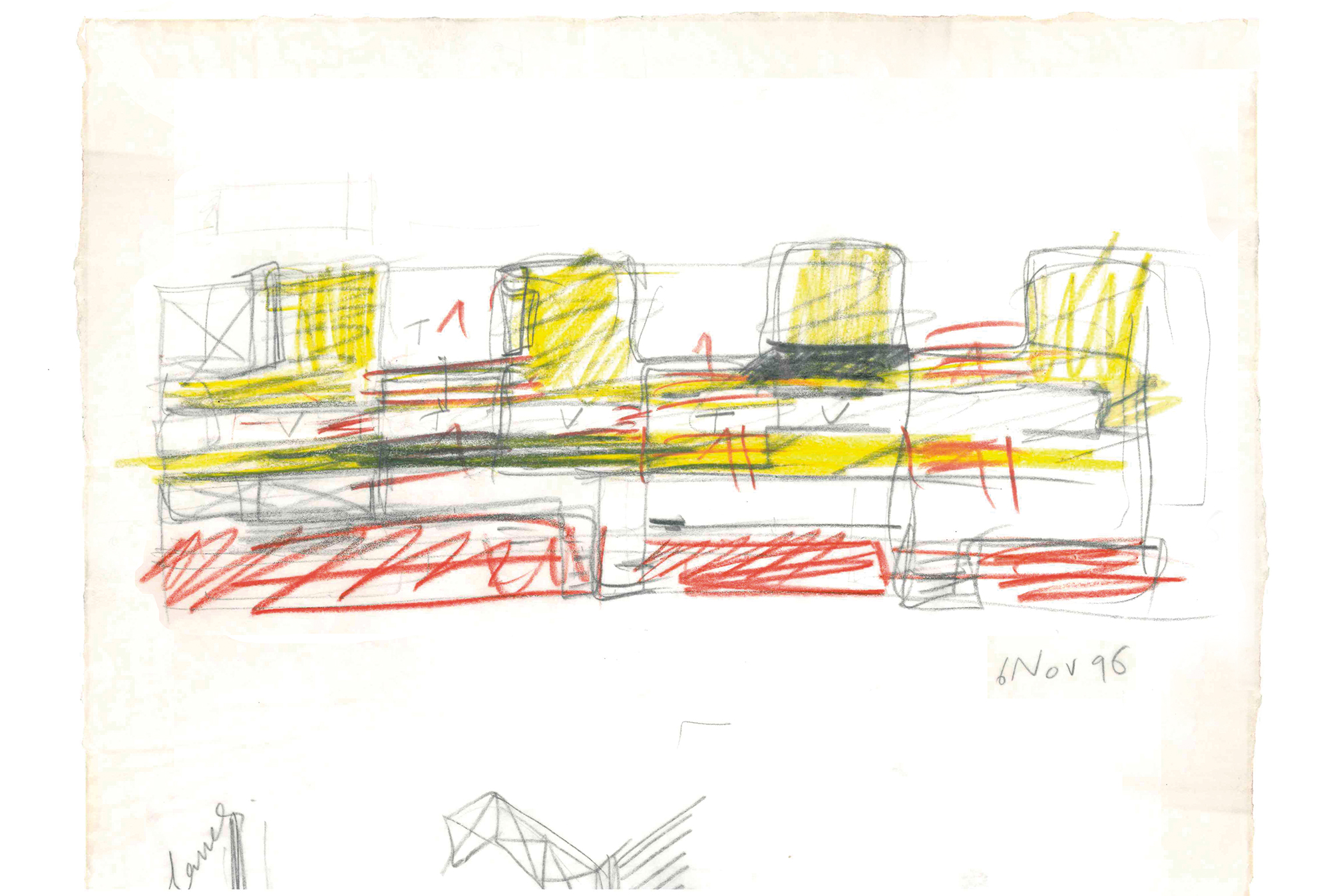 Footprints. Sketch of housing project in Amsterdam, Josep Lluís Mateo