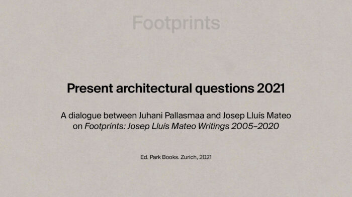 Present architectural questions 2021